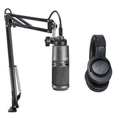 AT2020USB+PK - Ensemble de studio et podcast USB