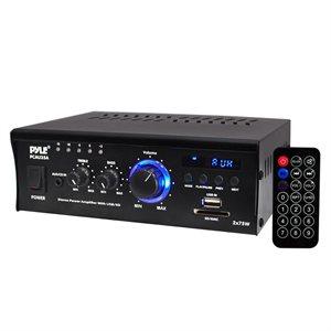 amplificateur de puissance usb / sd / mmc / aux / mp3 2x75w