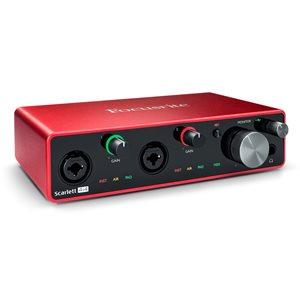 Scarlett 4i4 - Interface audio 4x4 2 entrées micro et midi