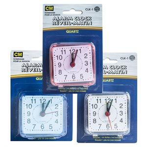 Horloge à 1 pile AA au quartz avec alarme (CLK-1)