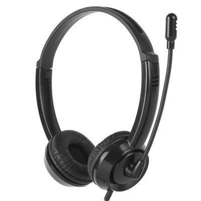Casque Audio Stéréo avec Microphone connecteur 3.5mm